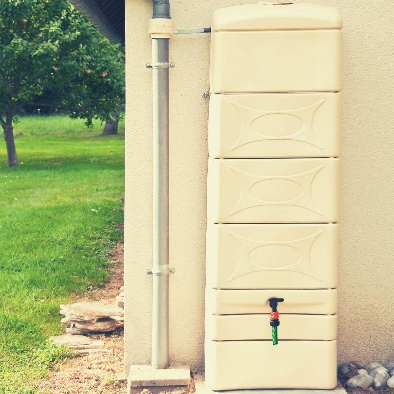 Installation de récupérateur eau de pluie