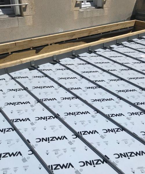 habillage de toit en zinc à Niort