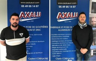 AXALU, spécialiste gouttières à Niort, La Rochelle, Poitiers et Fontenay Le Comte - poseur de gouttières à Niort, La Rochelle, Poitiers, Fontenay Le Comte